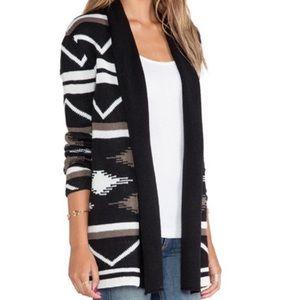 BB Dakota Denny Blanket Open Cardigan Aztec S